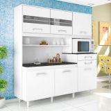 Cozinha Suprema 6 PT - 2 GAV Branco Com Branco Madine