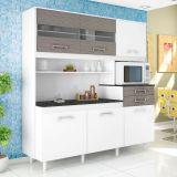 Cozinha Suprema 6 PT - 2 GAV Branco Com Ciliegio Madine