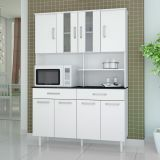 Kit de Cozinha Atenas 8 PT 2 GAV Branco Com Branco Madine
