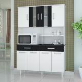 Kit de Cozinha Atenas 8 PT 2 GAV Branco Com Preto Madine