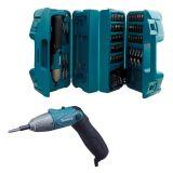 Parafusadeira a Bateria 1/4- Makita 6723DW com Estojo, Bateria, Carregador e 80 Acessorios - 4,8v