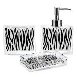 Kit para Banheiro 3 peças Estampa Zebra Mart