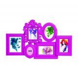 Porta-Retrato Rosa para 6 Fotos