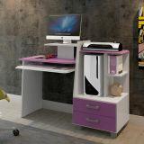 Mesa De Computador Alice Branco e Lilás Alto Brilho Mavaular