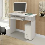 Mesa De Computador Dalian Plus Branco Alto Brilho Mavaular