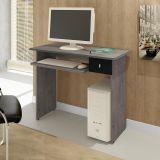 Mesa De Computador Dalian Plus Gris e Preto Alto Brilho Mavaular