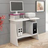 Mesa De Computador Munique Plus Branco e Lilás Alto Brilho Mavaular