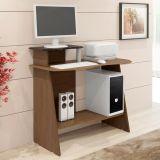 Mesa De Computador Munique Plus Canaleto Tx Fosco e Preto Mavaular