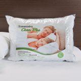 Travesseiro Antialergico  Clean Plus 50X70Cm Percal 230Fios Branco Max Fibras