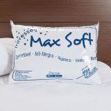 Travesseiro Antialergico  Max Soft 50X70Cm Percal 180 Fios Branco Max Fibras