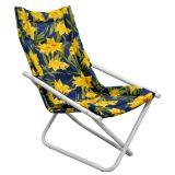 Cadeira Articulável Mônaco Branca E Floral