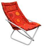 Cadeira Articulável Mônaco Branco com Vermelha