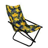 Cadeira Articulável Mônaco Preto com Floral