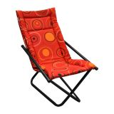Cadeira Articulável Mônaco Preto com Vermelha