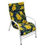 Cadeira Fixa Mônaco Branco com Floral