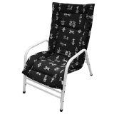 Cadeira Fixa Mônaco Branco com Oriental Preta