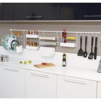 Suporte Para Cozinha Com Porta Condimentos Branco Metaltru Kit Cozinha