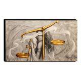 Quadro Decorativo Canvas Deusa da Justiça 60x105cm