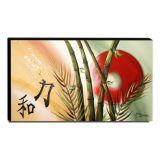 Quadro Decorativo Canvas Oriental Ideograma Harmonia Amor e Força 60x105cm