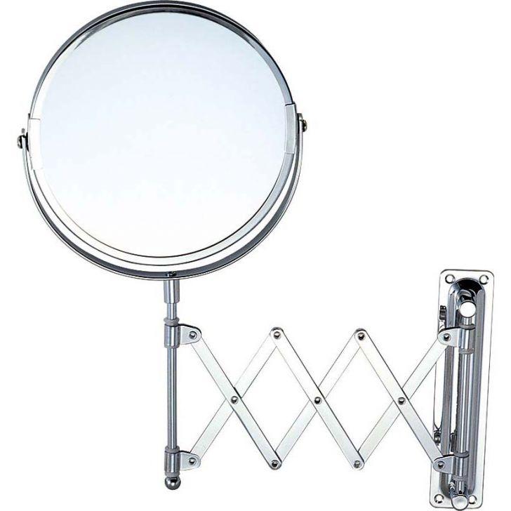 Espelho para Banheiro Suporte Sanfona Prata 25 cm