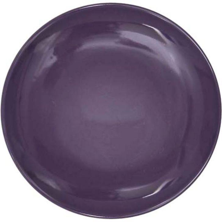 Prato De Sobremesa Bicolor Roxa 20 Cm