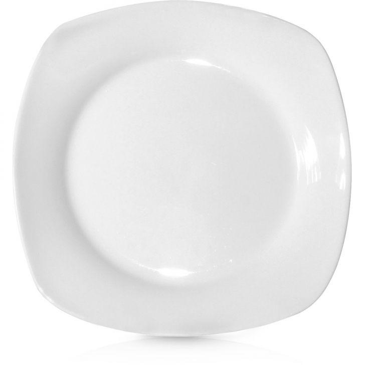 Prato Sobremesa Square 20 cm Branco