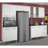 Cozinha Modulada Branco UV 4 Módulos 100% MDF 270 CM