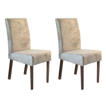 Conjunto 2 Cadeira Talia Castor Assento Suecia 22 Mobillare Talia