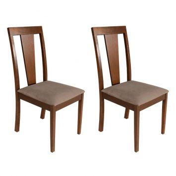 Conjunto 2 Cadeiras Coliseu Castor Assento Suecia 22 Mobillare Coliseu
