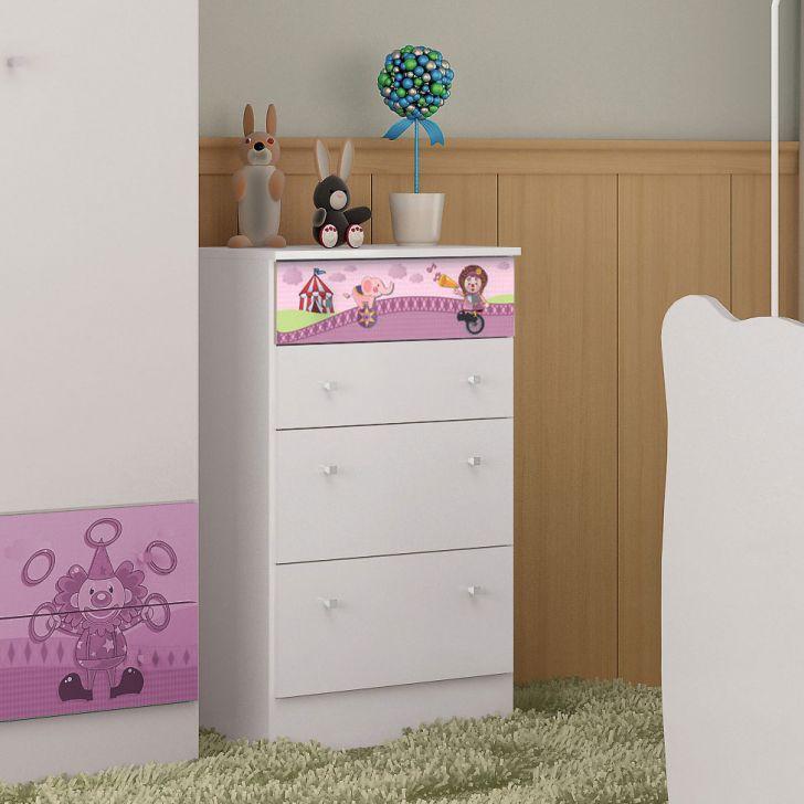 Cômoda Infantil 4 Gavetas A414 Rosa DESCONTO DE R$: 70,00 (30,57% OFF) - OFERTA MOBLY