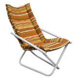 Cadeira Articulável Mônaco Branco com Listrada