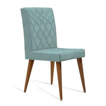 Cadeira Edon Linho Azul claro Mobly Edon