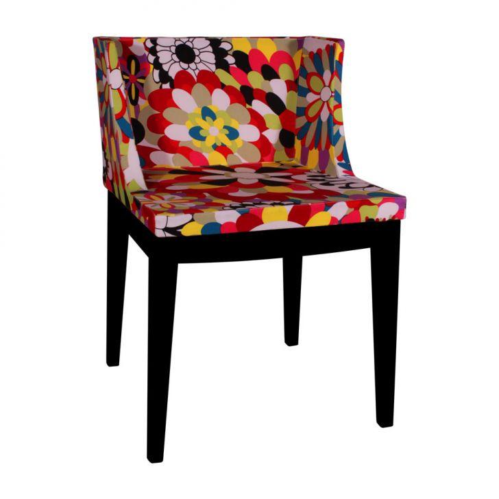 Cadeira Paris Floral Preto DESCONTO DE R$: 230,00 (25,30% OFF) - OFERTA MOBLY
