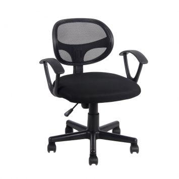 Cadeira de Escritório Secretária com Braços Canadá Preta Mobly Canadá