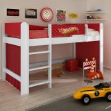 Cama Infantil Hot Wheels Play Branco