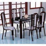 Conjunto Mesa Granada e 6 Cadeiras Granada Preto & CarameloList