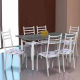 Conjunto Mesa Lisboa e 6 Cadeiras Monaco Branco & Branco Floral