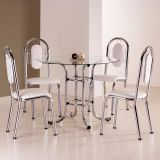 Conjunto de Mesa 4 Cadeiras Atlanta Branca