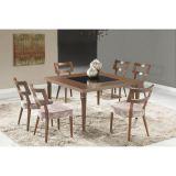 Conjunto de Mesa 6 Cadeiras Ariele Marrom