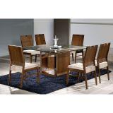 Conjunto de Mesa 6 Cadeiras Mayra I Marrom & Bege