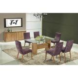 Conjunto de Mesa 6 Cadeiras Paola Ipê & Roxa