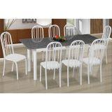 Conjunto de Mesa Cordoba com 8 Cadeiras Sevilha Branco