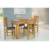 Conjunto de Mesa com 4 Cadeiras Fixa 1118X830 Cerejeira