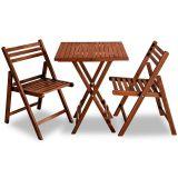 Conjunto de Mesa e 2 Cadeiras Opa Nogueira