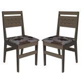 Kit 2 Cadeiras de Cozinha Toscana Nogal