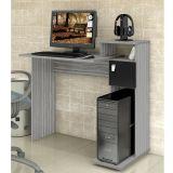 Mesa de Computador Cristal 1 Porta Onix & Preto