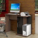 Mesa de Computador Pérola 1 Porta Carvalho & Preto