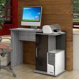 Mesa de Computador Pérola 1 Porta Onix & Preto