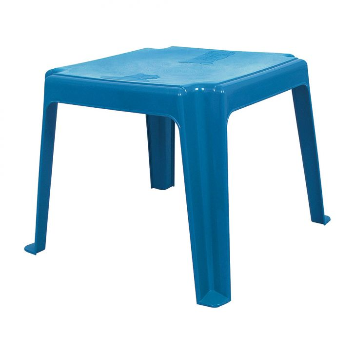 Mesa de pl stico infantil azul for Mesas infantiles de plastico