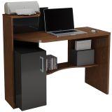 Mesa para Computador Office Nogal & Preta